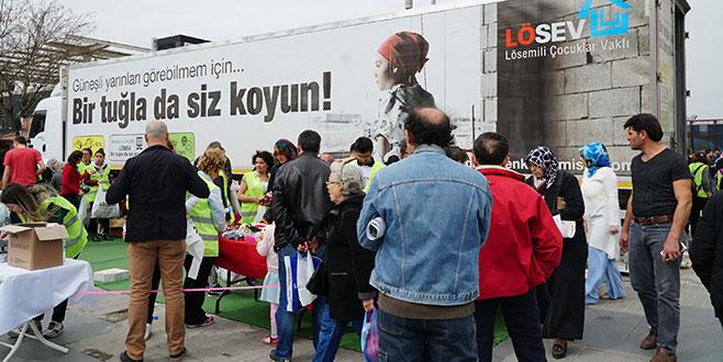 İyilik TIR'ı Bursa'dan geçti