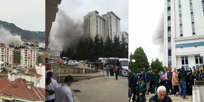 Devlet hastanesinde yangın! Hastalar tahliye edildi