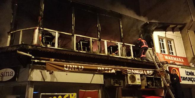 Bursa'nın İznik ilçesinde korkutan yangın