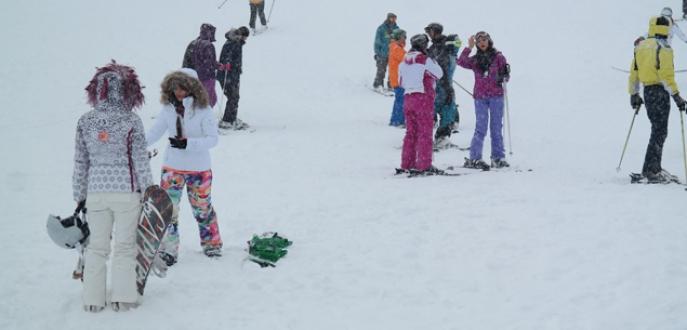 Uludağ'da kar kalınlığı 1 metreyi aştı