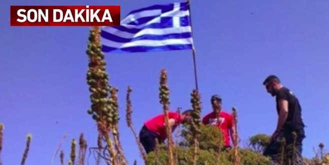 Ege'deki bayrak krizinin fotoğrafı ortaya çıktı