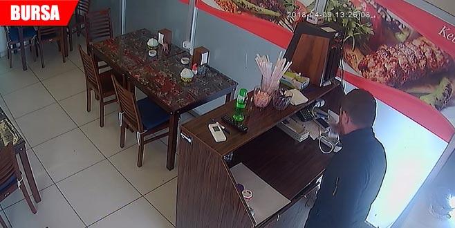 Saniyeler içinde gerçekleşen hırsızlık kamerada