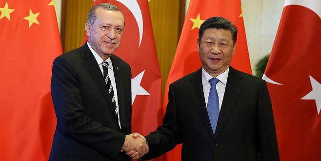 Erdoğan ile Şi Suriye'yi görüştü