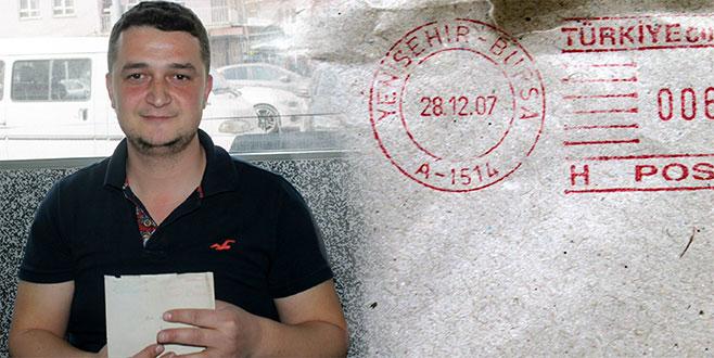 11 yıl sonra ulaşan mektup vatandaşı şok etti