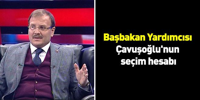 Başbakan Yardımcısı Çavuşoğlu'nun seçim hesabı