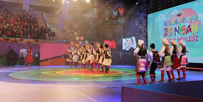 'TRT Uluslararası 23 Nisan Çocuk Şenliği' Bursa'da gerçekleştirildi