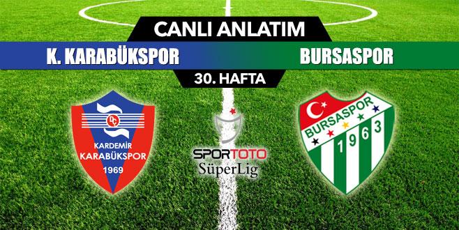 K.Karabükspor 1-2 Bursaspor (İlk yarı sonucu)
