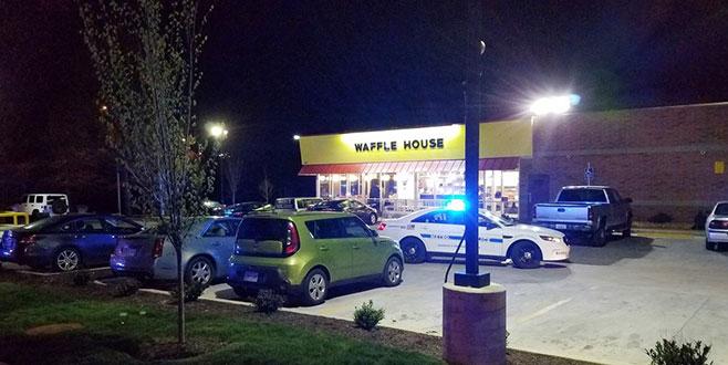 ABD'de waffle dükkanına baskın