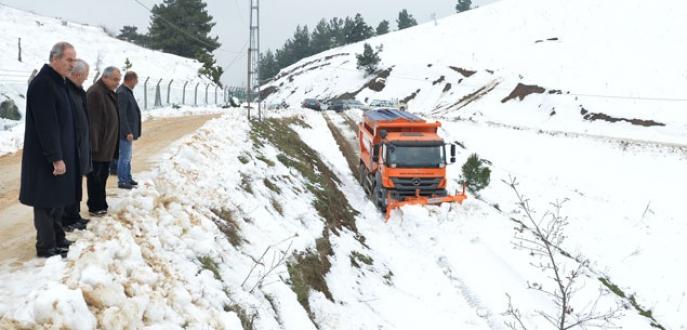 Bursa'da kapalı yol kalmadı