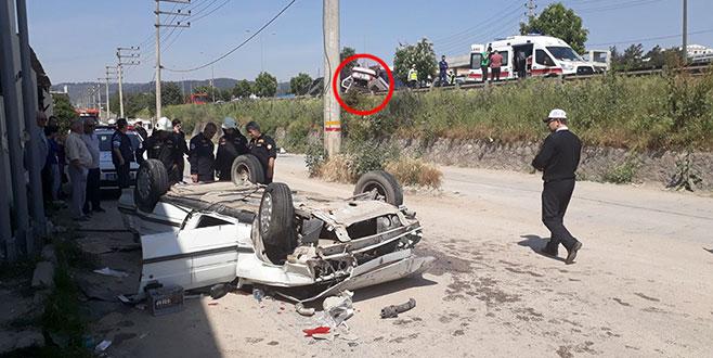 Bursa'da feci kaza: 6 kişi ağır yaralandı