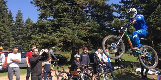 Downhill bisikletçileri Uludağ'da buluştu