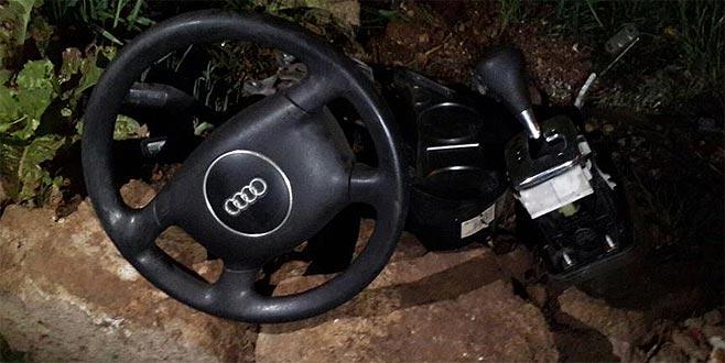 Tamirciye bırakılan lüks otomobil parçalanmış halde bulundu