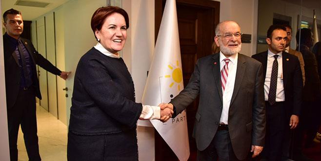 Akşener ile bir araya gelen Karamollaoğlu, Kılıçdaroğlu ile görüşecek