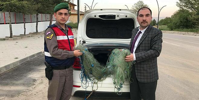 Büyükorhan'da kaçak avcılara suçüstü yapıldı