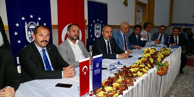 Aktaş Büyükorhan'da muhtarları dinledi
