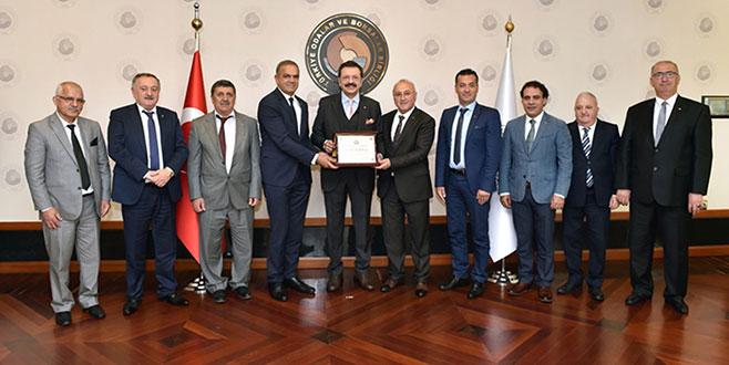 GTSO yönetiminden Hisarcıklıoğlu'na ziyaret