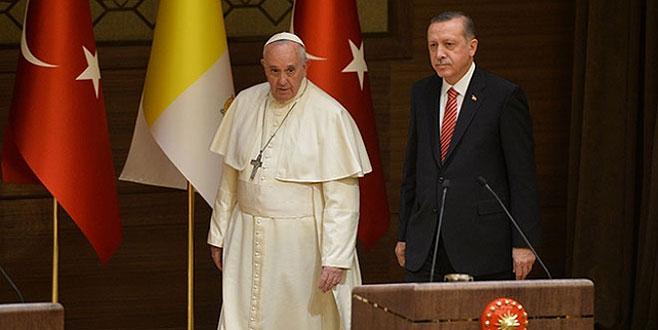 Erdoğan, Papa ile görüştü