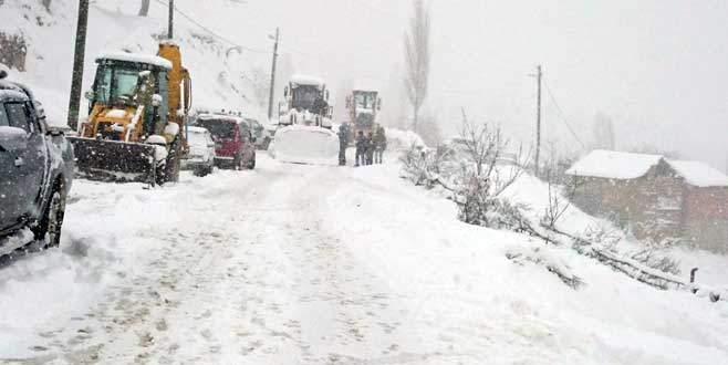 İznik'te 20 köy yolu kapandı