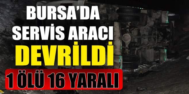 Bursa'da feci kaza: 1 ölü, 16 yaralı