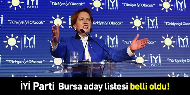 İYİ PARTİ Bursa aday listesi belli oldu!