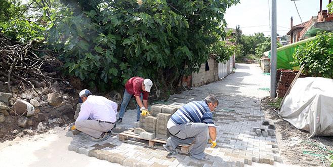 Mudanya'da 11 mahalleye parke taşı