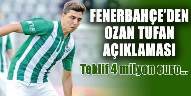 Fenerbahçe'den Ozan Tufan açıklaması!