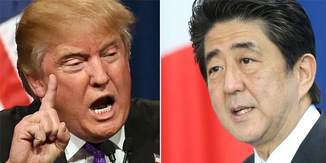 Trump, Abe'yi tehdit etmiş