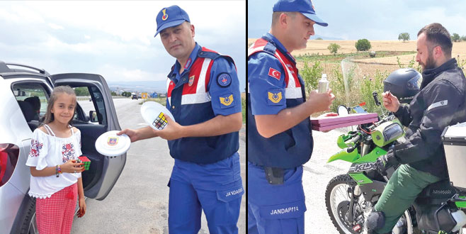 Jandarma'dan bayram jesti