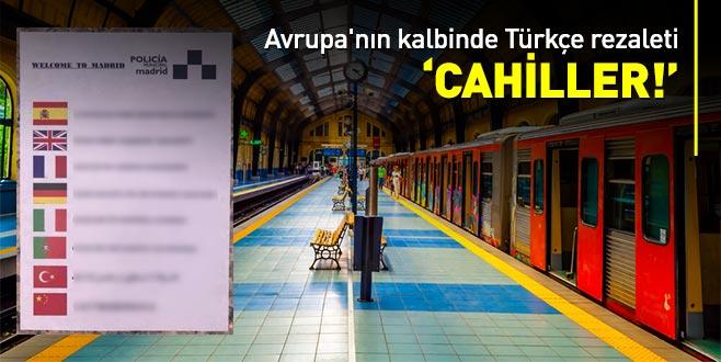 İspanyol polisinin hazırladığı broşürde Türkçe skandalı