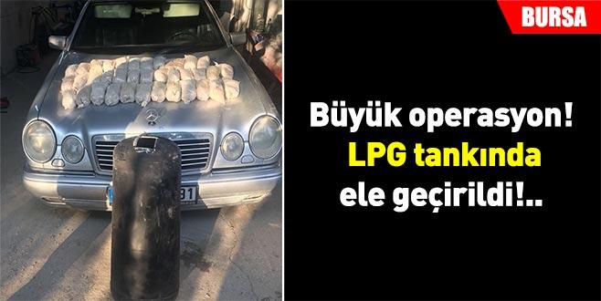 LPG tankında 20 kilogram eroin ele geçirildi