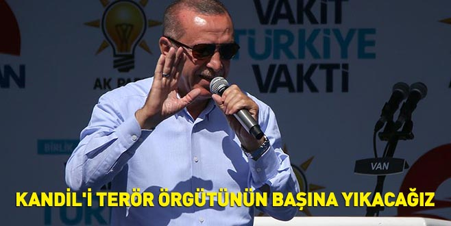 Cumhurbaşkanı Erdoğan: Kandil'i terör örgütünün başına yıkmaya devam edeceğiz