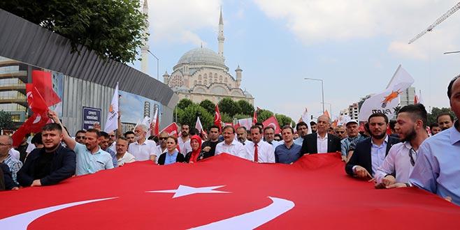Bursa'da 'sevgi yürüyüşü'