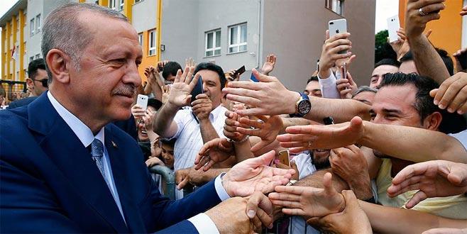 Erdoğan: Şu anda sakin halde devam eden bir seçim var