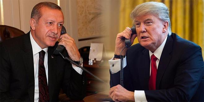 Erdoğan ve Trump telefonla görüştü!
