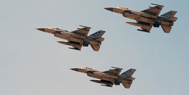 İlk kez vuruldu! 20'den fazla savaş uçağı katıldı