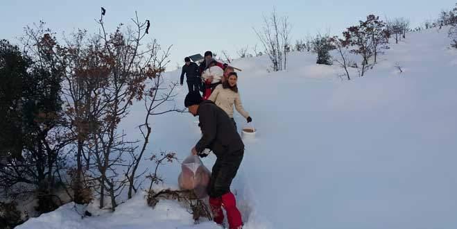 Bursalı dağcılardan örnek davranış