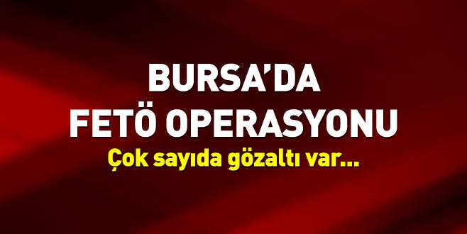 Bursa'daki FETÖ'nün yeni yapılanmasına operasyon