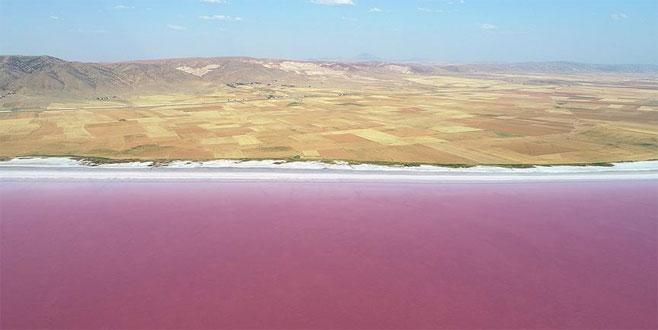 Tuz Gölü'nde 'kırmızı beyaz şölen'