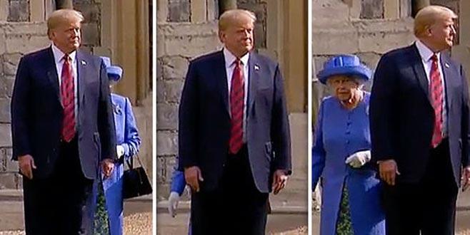 Trump Kraliçe'yi çileden çıkardı
