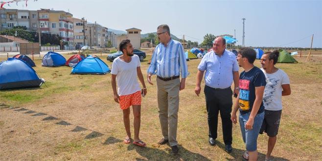 Yeniköy'e çadır ve karavan park alanı