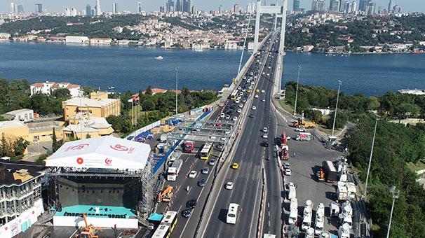 15 Temmuz Şehitler Köprüsü saat 14.00'e hazırlanıyor