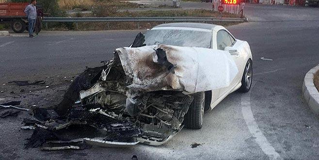 Baro başkanı kaza yaptı