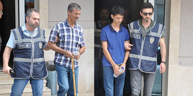 Bursa'daki cinayetin zanlısı baba oğul yakalandı