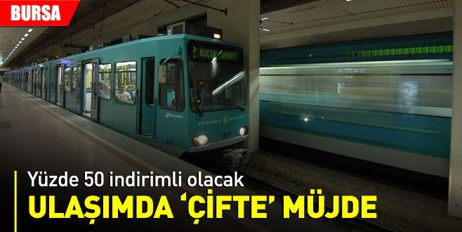 Bursa'da ulaşımda 'çifte' müjde!