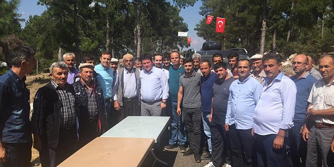 Aydın'dan nöbetteki vatandaşlara ziyaret