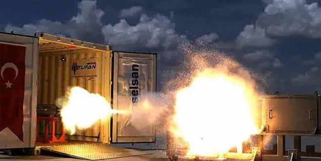 Yeni silah Tufan'la hız rekoru kırıldı