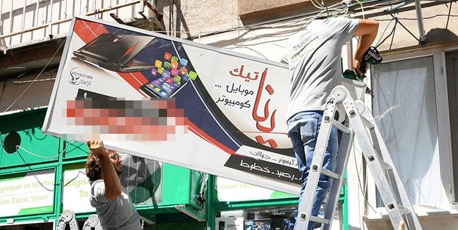 Osmangazi'de yabancı dildeki tabelalar kaldırıldı