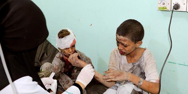 Yemen'de çocukları taşıyan otobüse saldırı