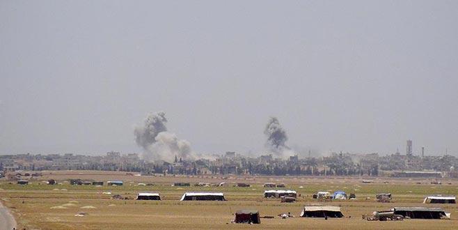 Esad rejiminden İdlib'e  yoğun hava saldırısı