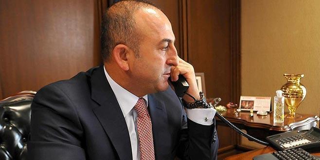 Bakan Çavuşoğlu BM Genel Sekreteri ile telefonda görüştü